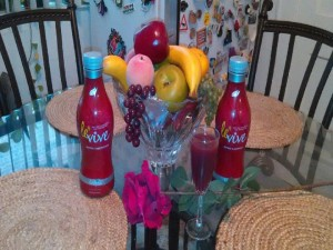 Ardyss Red Levive - 2 Bottles On Table - 6.23.15