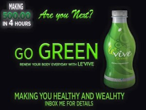 Ardyss Green Levive -  Are You Next -- Go Green Marketing Pic - 5.20 .15